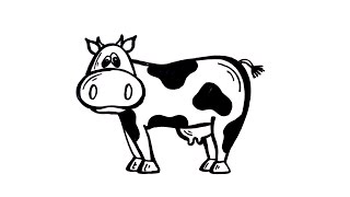 cow draw drawing