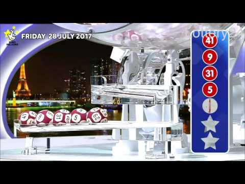 2017 07 28 Euro Millions Number and draw results