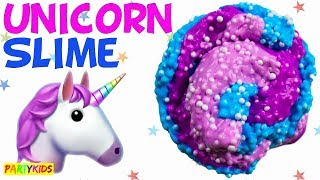 HOW TO MAKE FLUFFY UNICORN SLIME! (MAGICAL)