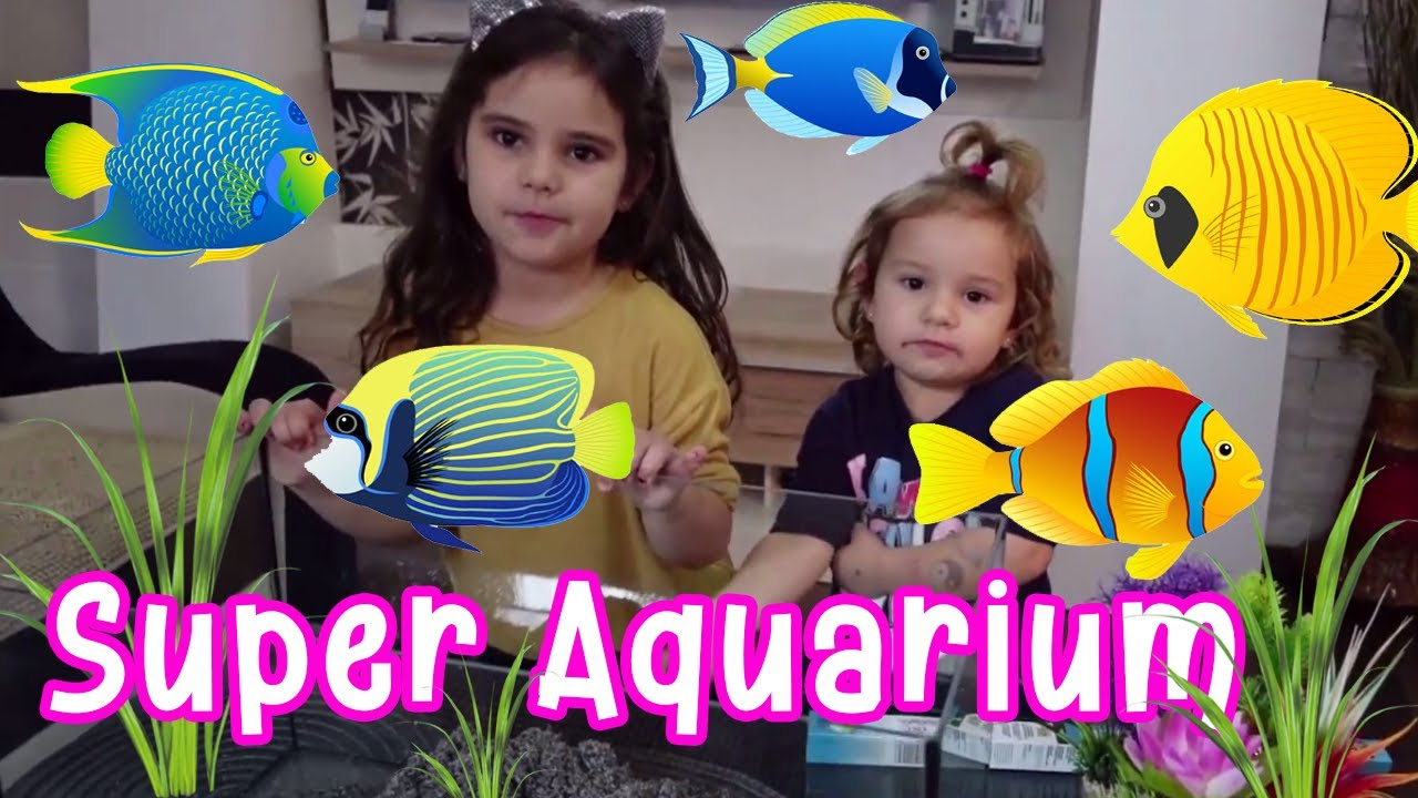 Rihanna and Sajra with a super aquarium