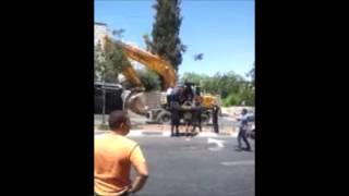 """""""Тракторный теракт"""" в Иерусалиме, 04/08/2014"""