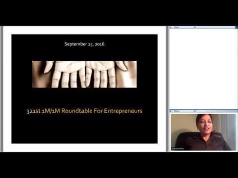 321st 1M/1M Roundtable September 15, 2016: With Investorist Founder Jon Ellis