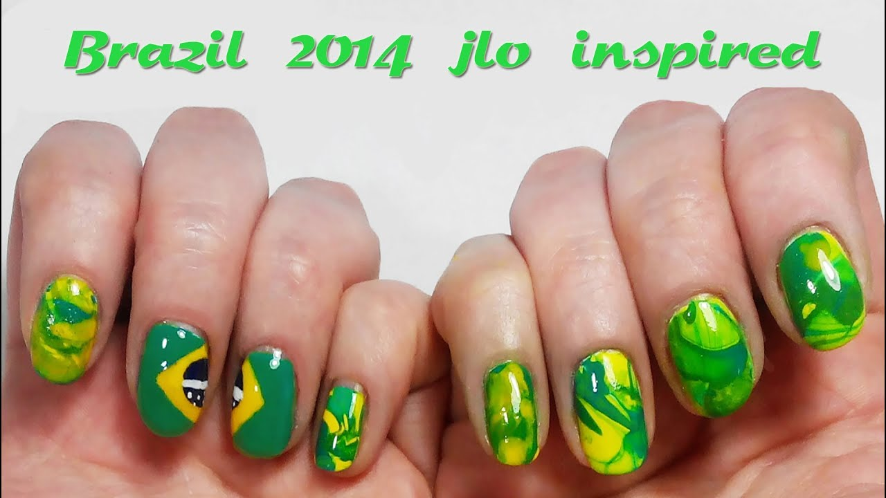 jennifer lopez nail art brazil 2014 we are one jlo nail design