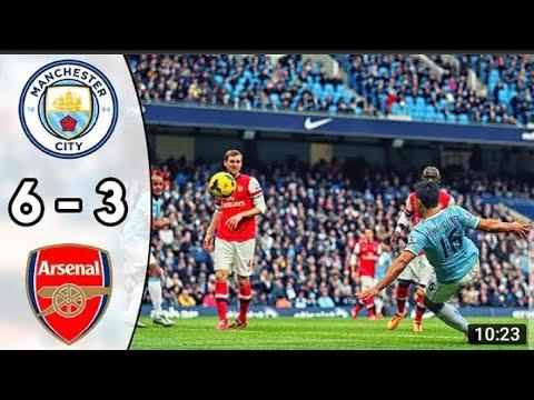 Download Manchester city vs Arsenal  6-3 All goals & highlights full match