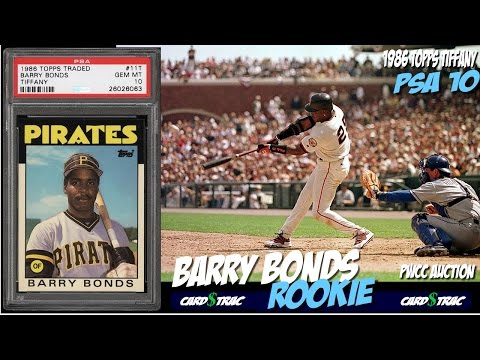 1986 Barry Bonds Topps Tiffany Rookie Card 11 For Sale