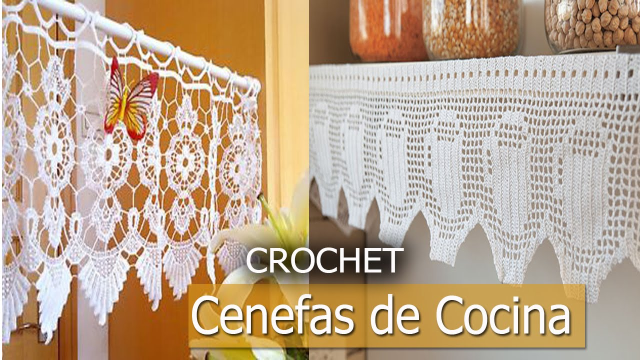 Cenefas para cocina tejidas a crochet dise os ideas for Cortinas de ganchillo