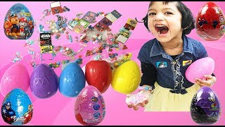 HUGE EASTER EGGS SURPRISE TOYS AND CANDIES. Spiderman, Star wars, Paw Petrol, Peppa Pig, Avengers