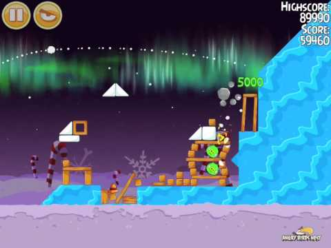 Angry Birds Seasons Winter Wonderham 1-14 Walkthrough Alternate 3 Star
