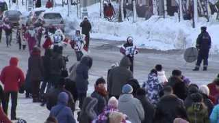 Забег Дедов Морозов в Южно Сахалинске