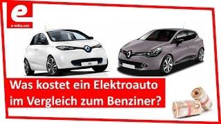 was kostet ein elektroauto im vergleich zum benziner   kosten renault zoe vs clio   e mike net