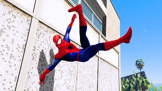 GTA 5 SPIDERMAN PARKOUR FAILS #1 (Funny Moments Euphoria physics)