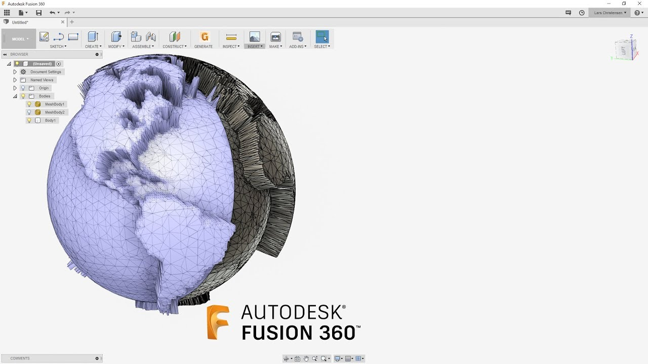 How To Handle LARGE STL Files & Smooth The Surface — Fusion 360 Tutorial —  #LarsLive 169