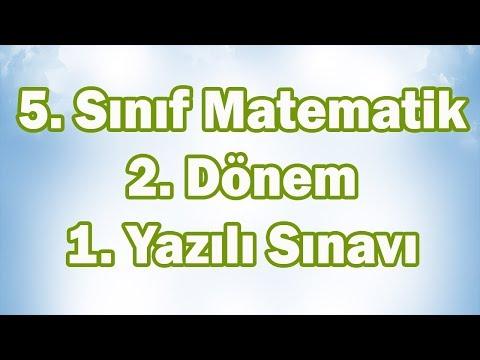 5. Sınıf Matematik 2. Dönem 1. Yazılı Sınavı Hazırlık | CANLI