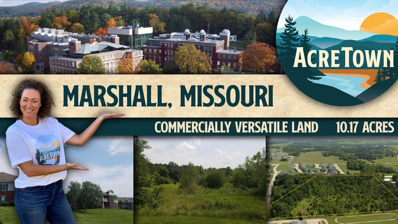 Cheap Land in Missouri   Marshall, MO   10.17 acres   Commercially Versatile   All City Utilities