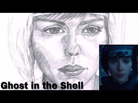Drawing Scarlett Johansson Major Motoko Ghost In The Shell