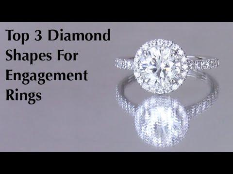 TOP 3 DIAMOND SHAPES | Round, Princess, Cushion | Vanessa Nicole Jewels Engagement Rings