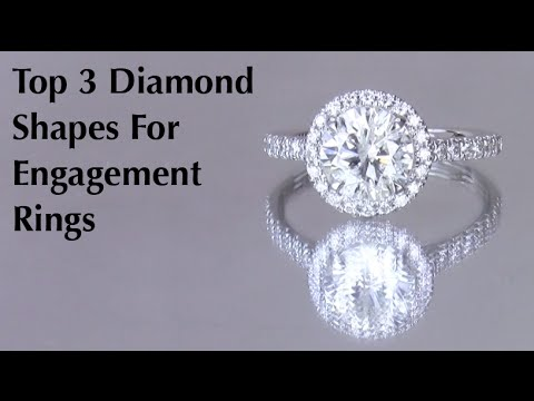 Top 3 Diamond Shapes Princess Cut Engagement Rings