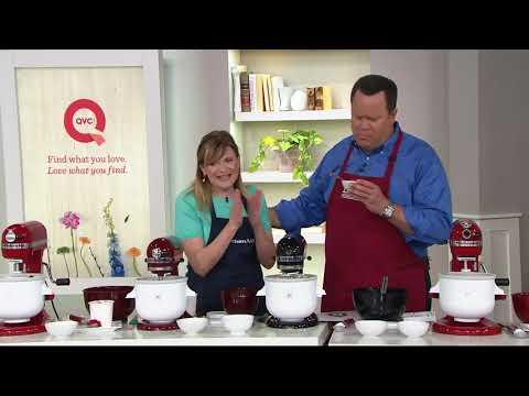 KitchenAid Ice Cream Maker Attachment With (2) Gelato Mix Packs On QVC