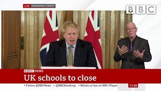 Coronavirus: Schools to close until further notice from Friday | Boris Johnson 🔴 @BBC News - BBC