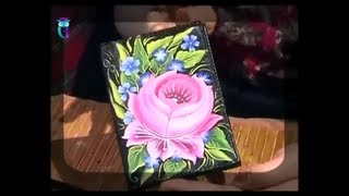 Роспись в технике одного мазка (One Stroke). Рисуем Тагильскую розу. Мастер класс. Наташа Фохтина