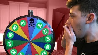 SPIN THE ROBLOX DEATH WHEEL (HE LOST 25,000 ROBUX)