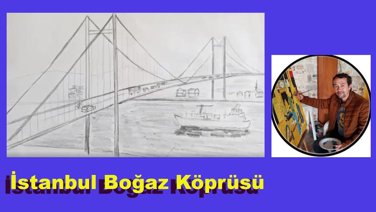 Istanbul Bogaz Koprusu Cizimi Istanbul Bogaz Bridge Drawing