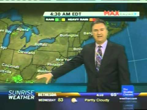 The Weather Channel - Sunrise Weather with Jeff Morrow - August 19, 2012 -  4:30 am EDT/1:30 am PDT
