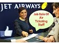 What is Air Ticketing ? Job role of Airlines Ticketing Staff and details by AVIATION DREAMER