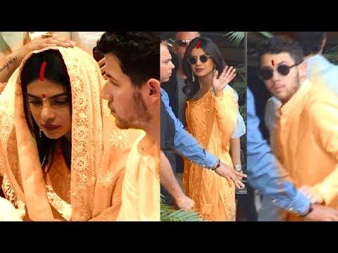 Priyanka Chopra And Nick Jonas Pre-Wedding Puja