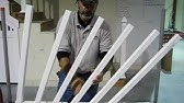 How to install railing on outdoor deck stairs - Using