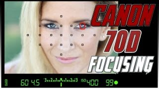 Canon 70D Focusing Squares Tutorial | How to focus with the Canon 70D Training