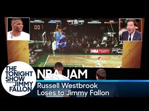 Russell Westbrook Loses to Jimmy Fallon at \'NBA Jam\'