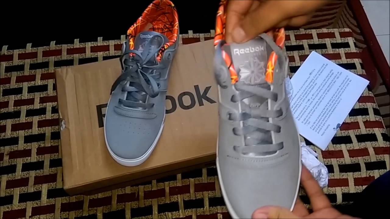 998e23a55db Reebok Workout Low Clean Fvs Gf Leather Training Shoe- Quick Unboxing    On-Feet