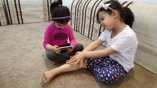 أميرة وميادة يلعبون بجنون