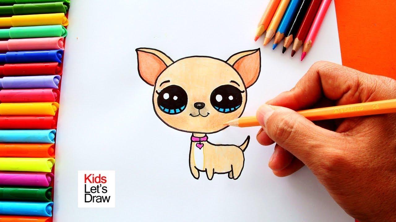 Cómo Dibujar un CHIHUAHUA Fácil | How to Draw a Chihuahua - YouTube