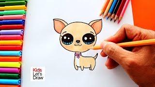 Cómo Dibujar un CHIHUAHUA Fácil | How to Draw a Chihuahua