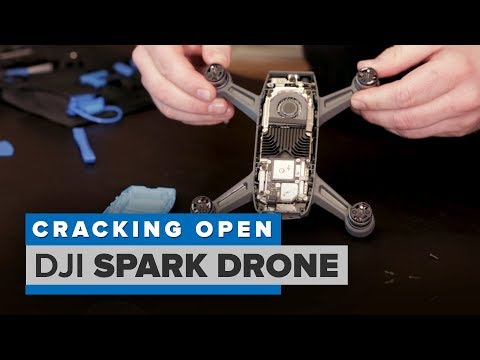 What's inside the DJI Spark drone? (Cracking Open)