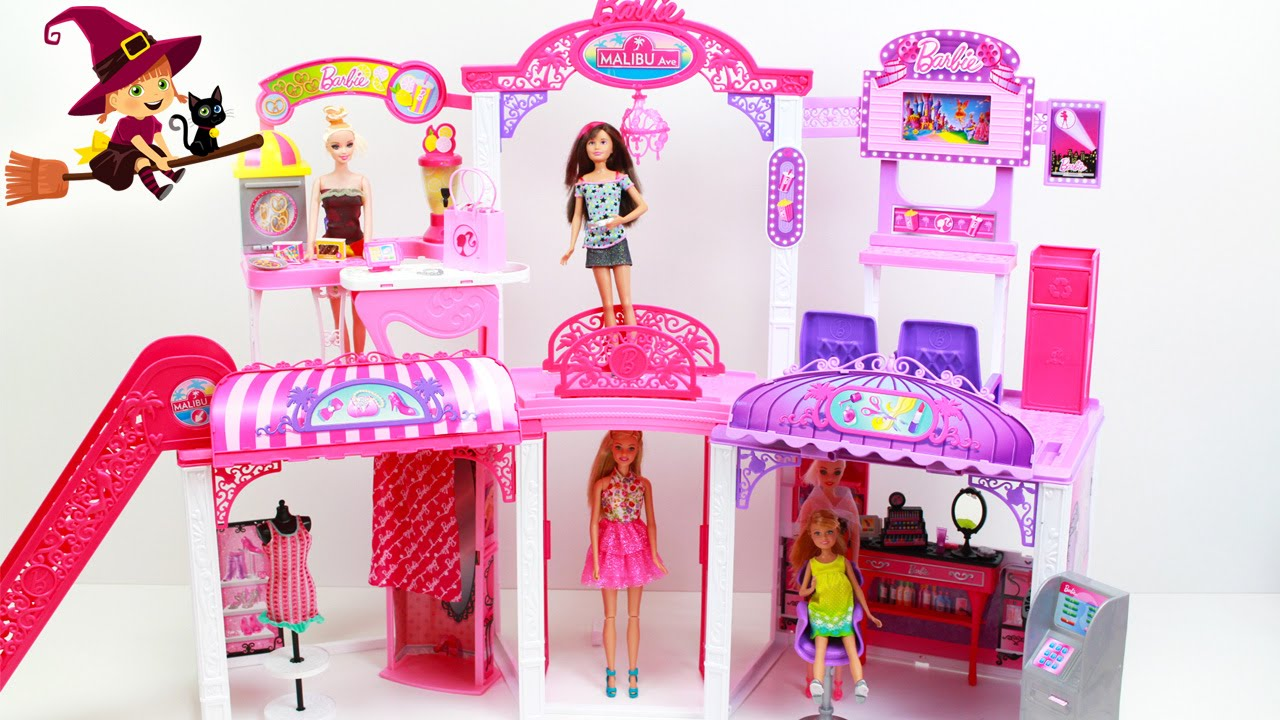 Centro Comercial Malibu Ave De Barbie Toys Youtube