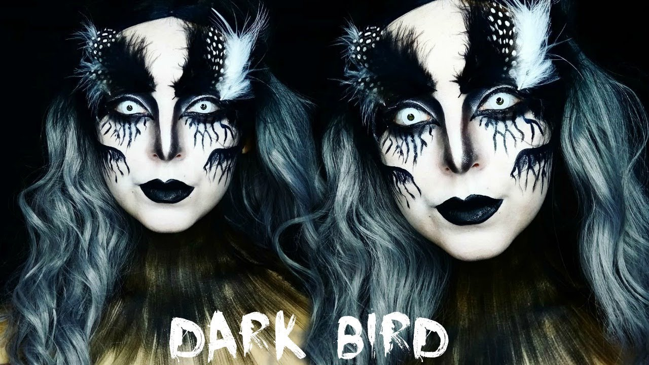 Bird Halloween Makeup.Dark Bird Halloween Makeup Tutorial Youtube