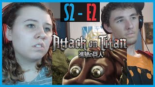 [RE UPLOAD] My Sister and I React to Attack on Titan S2 - E2