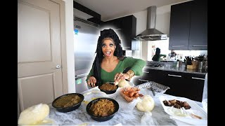 De'arra Tries African Food For The FIRST Time (Egusi Stew, Fufu, etc..)