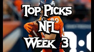 Top Plays for NFL Week 3 | Daily Fantasy Football | DailyFantasyWinners