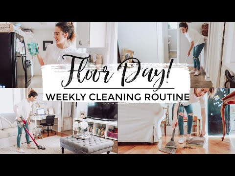 ULTIMATE CLEAN WITH ME 2019 | FLOOR DAY! | My Tuesday Weekly Cleaning Routine | Justine Marie