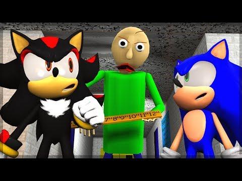 Sonic & Shadow Play Baldi's Basics! - EGGMAN'S MOTHER!?