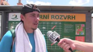 František Polánka po výhře v prvním kole kvalifikace na turnaji Futures v Ústí n. O.