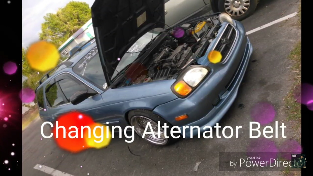 changing alternator belt on a suzuki esteem