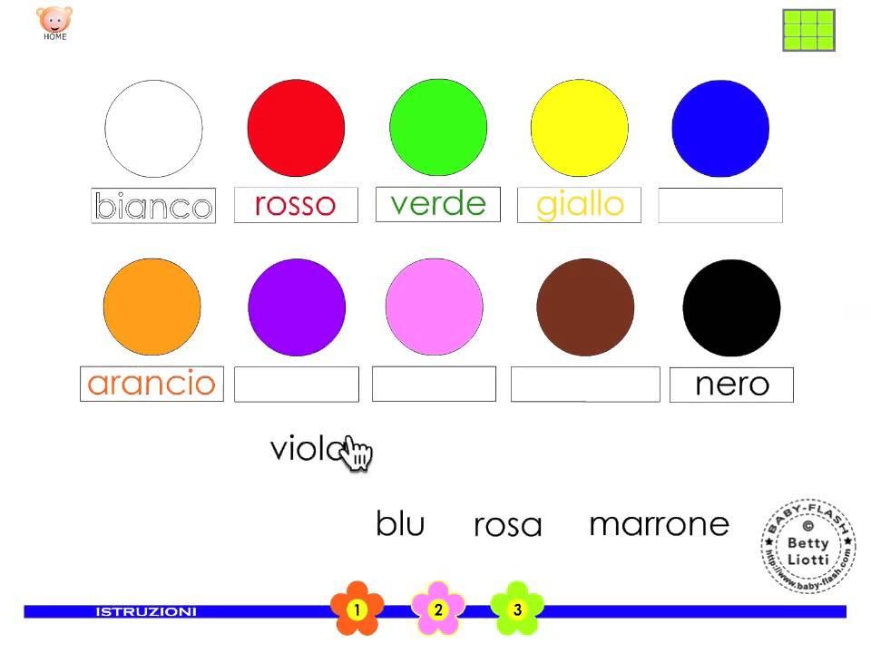 Esercizi per i pi piccoli14 imparare i colori youtube for Baby flash italiano doppie