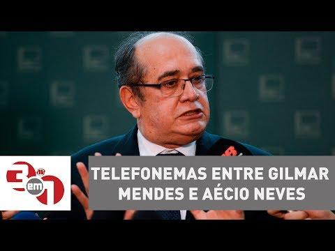 PF revela mais de 40 telefonemas entre Gilmar Mendes e Aécio Neves