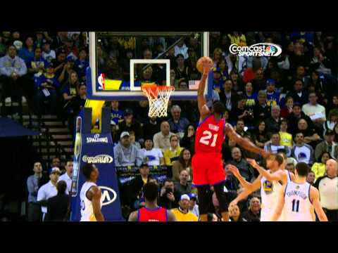Thaddeus Young takes flight for the BIG slam!