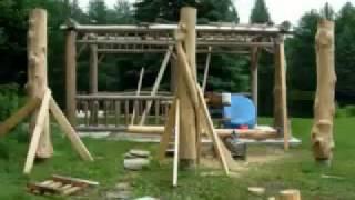 How To Build A Log Gazebo